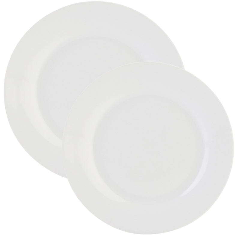 Plato llano blanco porcelana tuquetraes for Platos porcelana